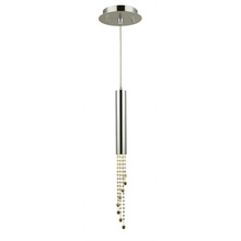 "Worldwide Lighting Corp W33138C6-GT - Metropolis Collection 1 Light Halogen Chrome Finish and Golden Teak Crystal Flush Mount 6"" D x 2"