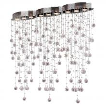 "Worldwide Lighting Corp W33263C42 - Icicle Collection 9 Light Chrome Finish and Clear Crystal Flush Mount Ceiling Light 42"" L x 8&#3"