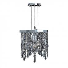 "Worldwide Lighting Corp W83123C10-CL - Fiona Collection 1 Light Chrome Finish Crystal Pendant 10"" L x 4"" W x 11"" H Mini"