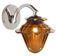 Stone Lighting WS155AMSNX3 - Wall Sconce Acorn Amber Satin Nickel GY6.35 Xenon 35W
