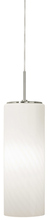 Stone Lighting PD186OPSNMB10M - Pendant Gauss Opal Satin Nickel Medium Base Incandescent 100W Monopoint Canopy