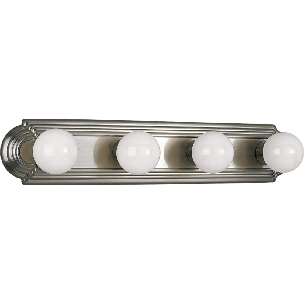 4-Lt. Brushed Nickel Bath Light- wall mount only