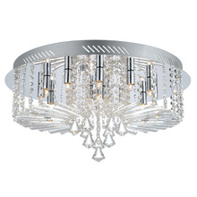 Eglo 200389A - 15x25W Ceiling Light w/  Chrome Finish & Clear Crystal Strands