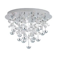 Eglo 39245A - 15x2.1W LED Ceiling Light w/ Chrome Finish & Crystals