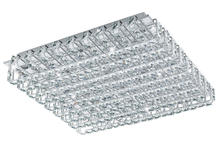 Eglo 94315A - 16x3.3W LED Ceiling Light w/ Chrome Finish & Clear Crystals