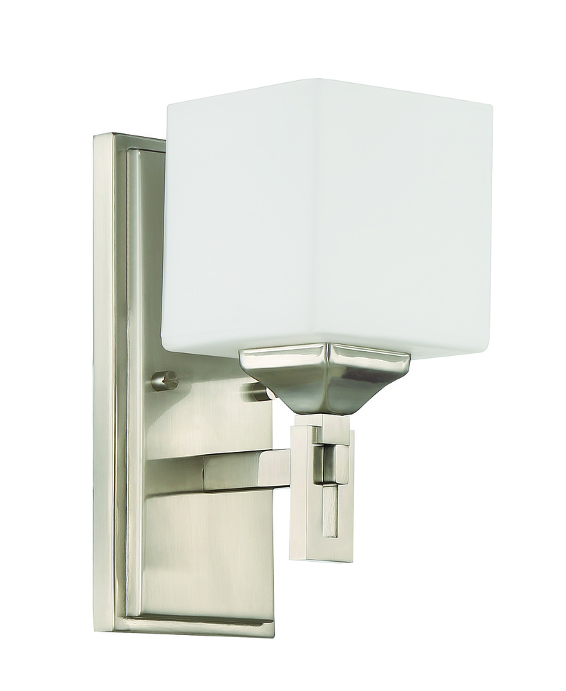 Urbane 1 Light Wall Sconce in Brushed Polished Nickel