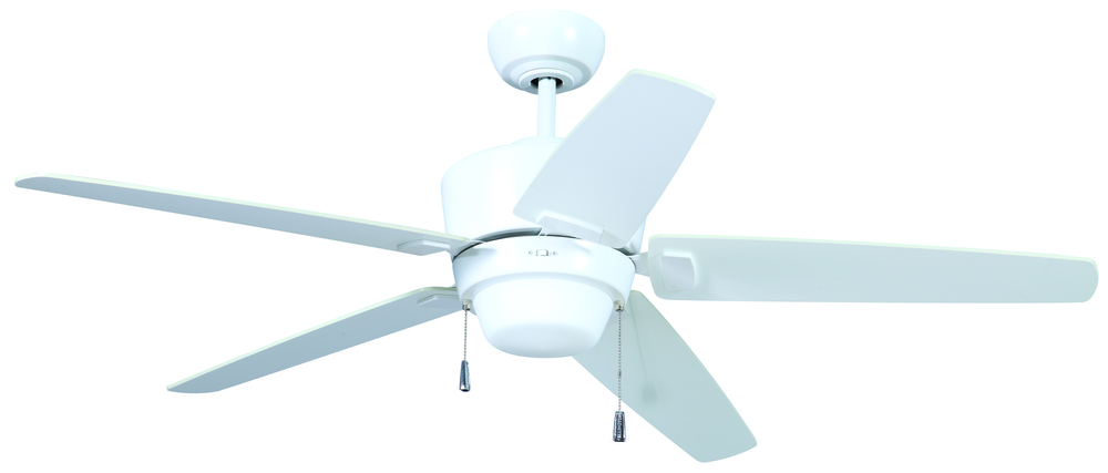 "Atara 52"" Ceiling Fan with Blades and Light in White"