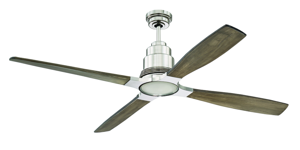"Ricasso 60"" Ceiling Fan in Polished Nickel (Blades Sold Separately)"