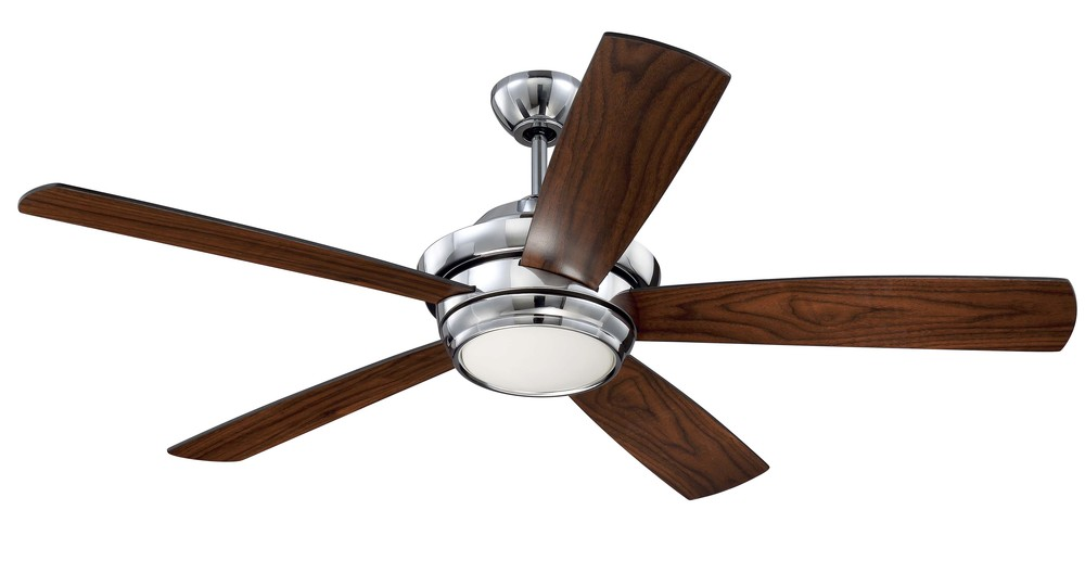 Tempo 52 Ceiling Fan With Blades And Led Light Kit In Chrome