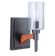 Craftmade 40301-ESPWB - Tahoe 1 Light Wall Sconce in Espresso/Whiskey Barrel