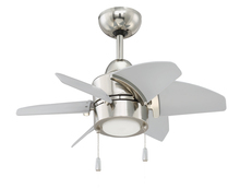 "Craftmade PPL24PLN6 - Propel 24"" Ceiling Fan (Blades Included) in Polished Nickel"