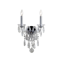 Crystorama 9912-CH-CL-MWP - Crystorama Barrymore 2 Light Chrome Sconce