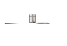 Matthews Fan Company EKH-BN-GA - Eliza-H Three Bladed Rodless Paddle, Flushmount Fan in Brushed Nickel With Gray Ash  Blades