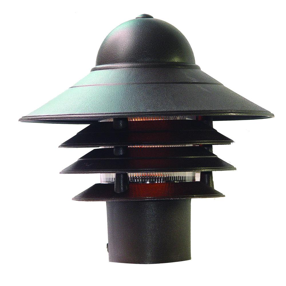 Mariner Collection Post-Mount 1-Light Outdoor Architectural Bronze Light Fixture