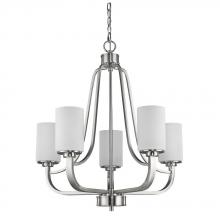 Acclaim Lighting IN11240SN - Addison Indoor 5-Light Chandelier W/Glass Shades In Satin Nickel
