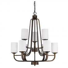 Acclaim Lighting IN11241ORB - Addison Indoor 9-Light Chandelier W/Glass Shades In Oil Rubbed Bronze