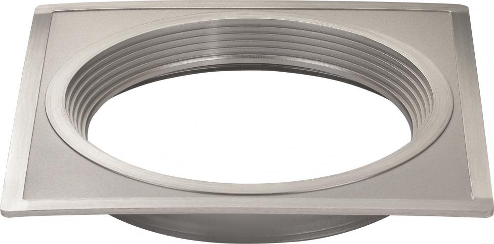 "Fixture This in Tyler, Texas, United States,  S9531, Freedom Square 5"" Trim Option for 5"" / 6"" base unit; Brushed Nickel finish,"