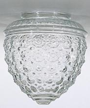 "Satco Products Inc. 50/112 - Pineapple Glass Shade; Measures 6 By 3-1/4""; Dia.: 5-1/2""; Fitter: 3-1/4"""