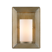 Golden 2073-1W WG - 1 Light Wall Sconce (White Gold & Opal Glass)