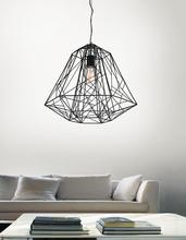 Crystal World 9625P16-1-101 - 1 Light Black Down Pendant from our Bagheera collection