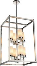 Crystal World 9800P18-8-S-606 - 8 Light Satin Nickel Candle Chandelier from our Margie collection
