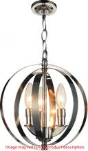 Crystal World 9811P10-3-604 - 3 Light Antique Bronze Up Mini Pendant from our Delroy collection