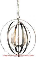 Crystal World 9811P22-5-604 - 5 Light Antique Bronze Up Chandelier from our Delroy collection