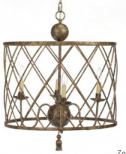 Fixture This Items OWC3450 - Open Weave Chandelier with Hand Rubbed Silver Finish
