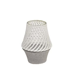 Candle Holder - Concrete & Knit Glass Medium