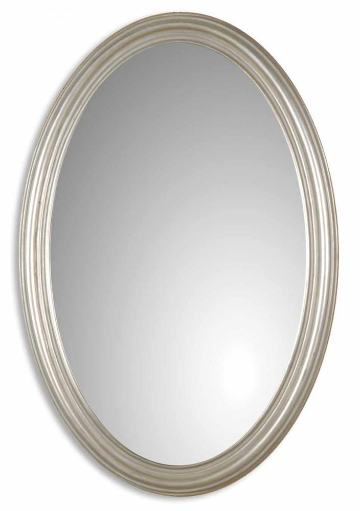 Fixture This in Tyler, Texas, United States,  08601 P, Uttermost Franklin Oval Silver Mirror, Franklin Oval
