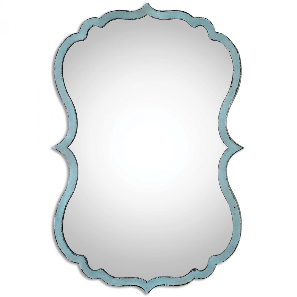 Fixture This in Tyler, Texas, United States,  13925, Uttermost Nicola Light Blue Mirror, Nicola