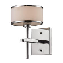ELK Lighting 11415/1 - Utica 1 Light Vanity In Polished Chrome And Whit