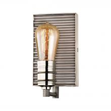 ELK Lighting 15920/1 - Corrugated Steel 1 Light Vanity In Weathered Zin