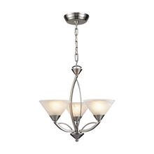 ELK Lighting 7635/3 - Elysburg 3 Light Chandelier In Satin Nickel And