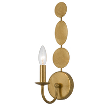Layla 1 Light Antique Gold Sconce 541